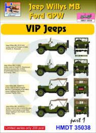 HM DECALS 1/35  Jeep Willys MB/Ford GPW VIP Jeeps 1