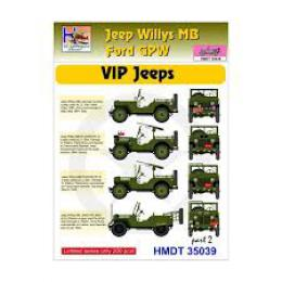 HM DECALS 1/35  Jeep Willys MB/Ford GPW VIP Jeeps 2