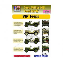 HM DECALS 1/35  Jeep Willys MB/Ford GPW VIP Jeeps 3