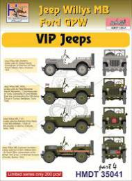 HM DECALS 1/35  Jeep Willys MB/Ford GPW VIP Jeeps 4