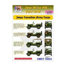 HM DECALS 1/35  Jeep Willys MB/Ford GPW Can/Army Corps 1
