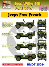 HM DECALS 1/35  Jeep Willys MB/Ford GPW Free French