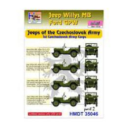 HM DECALS 1/35  Jeep Willys MB/Ford GPW CZ Army Corps