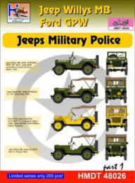 HM DECALS 1/48  Jeep Willys MB/Ford GPW Military Police 1