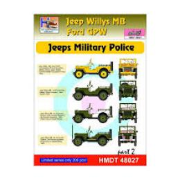 HM DECALS 1/48  Jeep Willys MB/Ford GPW Military Police 2