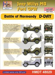 HM DECALS 1/48  Jeep Willys MB/Ford GPW Normandy D-Day