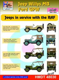 HM DECALS 1/48  Jeep Willys MB/Ford GPW in RAF service 1