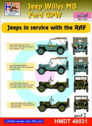 HM DECALS 1/48  Jeep Willys MB/Ford GPW in RAF service 2