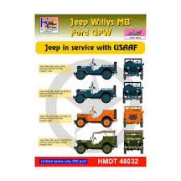 HM DECALS 1/48  Jeep Willys MB/Ford GPW in USAAF service