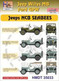 HM DECALS 1/48  Jeep Willys MB/Ford GPW NCB SEABEES