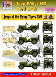 HM DECALS 1/48  Jeep Willys MB/Ford GPW Flying Tigers