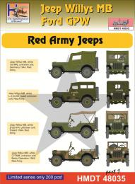 HM DECALS 1/48  Jeep Willys MB/Ford GPW Red Army 1