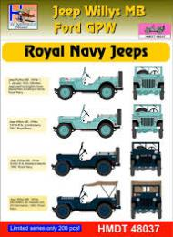 HM DECALS 1/48  Jeep Willys MB/Ford GPW Royal Navy