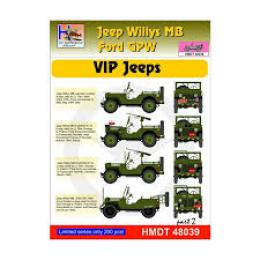 HM DECALS 1/48  Jeep Willys MB/Ford GPW VIP Jeeps 2