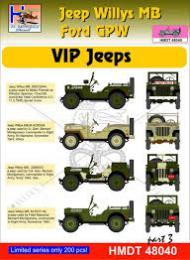 HM DECALS 1/48  Jeep Willys MB/Ford GPW VIP Jeeps 3