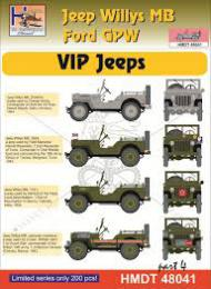 HM DECALS 1/48  Jeep Willys MB/Ford GPW VIP Jeeps 4