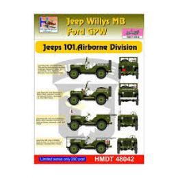 HM DECALS 1/48  Jeep Willys MB/Ford GPW 101 Airborne Div/