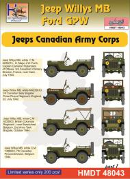 HM DECALS 1/48  Jeep Willys MB/Ford GPW Can/Army Corps 1