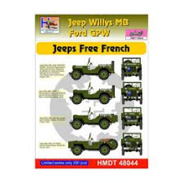HM DECALS 1/48  Jeep Willys MB/Ford GPW Free French