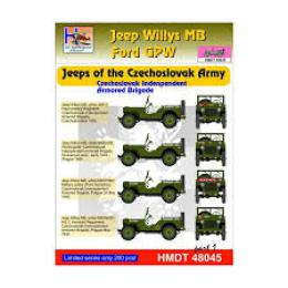 HM DECALS 1/48  Jeep Willys MB/Ford GPW CZ Army Brigade