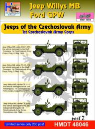 HM DECALS 1/48  Jeep Willys MB/Ford GPW CZ Army Corps