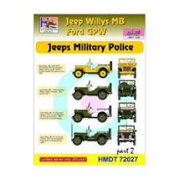 HM DECALS 1/72  Jeep Willys MB/Ford GPW Military Police 2