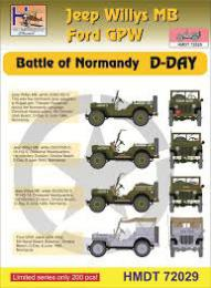 HM DECALS 1/72  Jeep Willys MB/Ford GPW Normandy D-Day