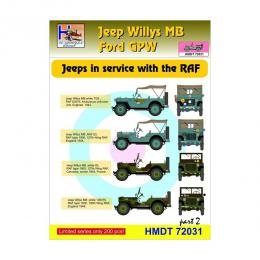 HM DECALS 1/72  Jeep Willys MB/Ford GPW in RAF service 2