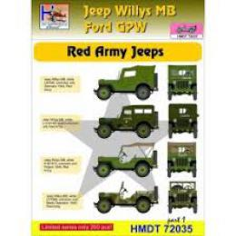 HM DECALS 1/72  Jeep Willys MB/Ford GPW Red Army 1