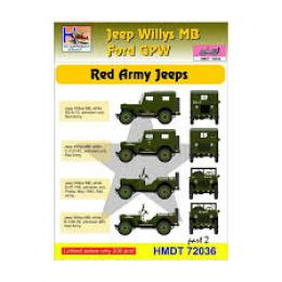 HM DECALS 1/72  Jeep Willys MB/Ford GPW Red Army 2