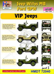 HM DECALS 1/72  Jeep Willys MB/Ford GPW VIP Jeeps 3