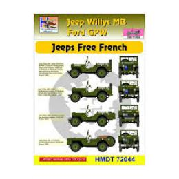 HM DECALS 1/72  Jeep Willys MB/Ford GPW Free French