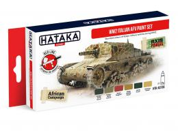 HATAKA Red Set AS106 WW2 Italian AFV paint set