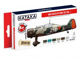 HATAKA Red Set AS107 WW2 Dutch AF paint set vol.1