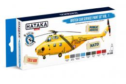 HATAKA Blue Set BS98 British Sar Service paint set vol.1