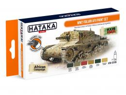 HATAKA Orange Set CS106 WW2 Italian AFV paint set