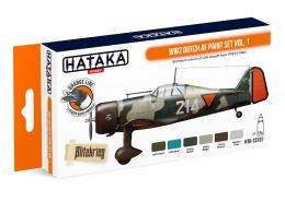 HATAKA Orange Set CS107 WW2 Dutch AF paint set vol.1