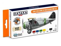 HATAKA Orange Set CS54 Early USN&USMC Section colours paint s