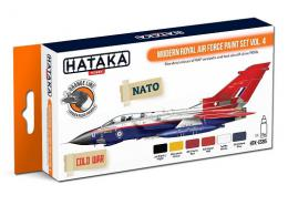 HATAKA Orange Set CS85 Modern Royal Air Force paint set v.4