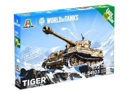 ITALERI 1/72 World of Tanks: Tiger Fast Assembly kit w/ Game code