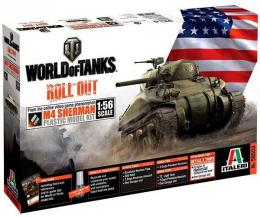 ITALERI 1/56 World Of Tanks: M4 Sherman
