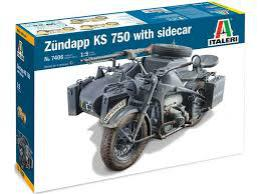 ITALERI  1/9 WWII Zundapp KS 750 w/Side car