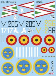 ICM 1/32 Decal Fiat CR.42 Falco in Foreign Services