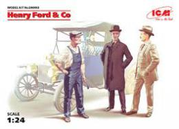 ICM 1/24 24003 Henry Ford & Co ( 3 Figures)