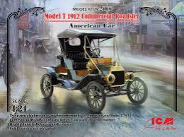 ICM 1/24 Model T 1912 Commercial Roadster American Car