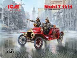 ICM 1/24 Model T 1914 Fire Truck with Crew