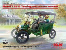 ICM 1/24 Model T 1911 Touring w/ American Motorists