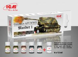 ICM 3003- Paint set for German AFV WW2 and Marder I
