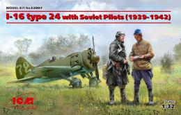 ICM 1/32 I-16 type 24 with pilots