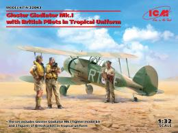 ICM 1/32 Gloster Gladiator Mk.I with British Pilots in Tropical Uniform